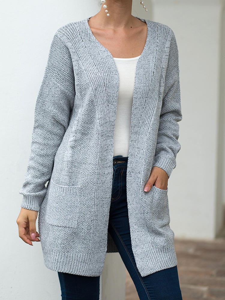 Best Loose Long Sleeve Solid Color Casual Cardigan For Women You Can Buy