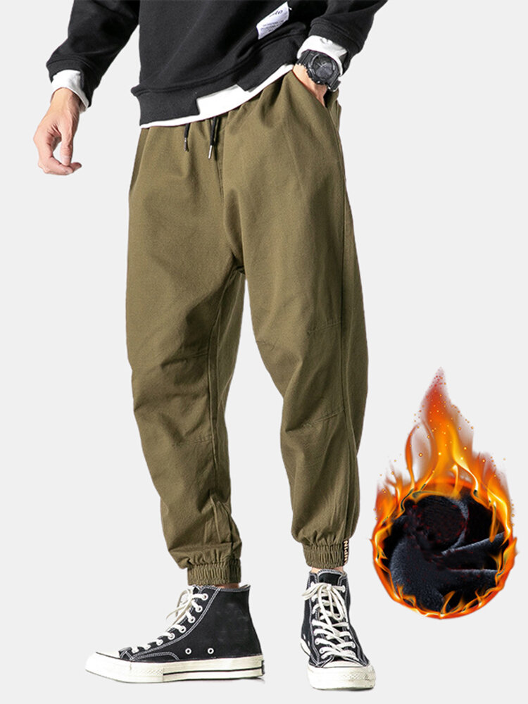 Best Mens Cool Solid Color Streetwear Drawstring Ankle Band Pants You Can Buy
