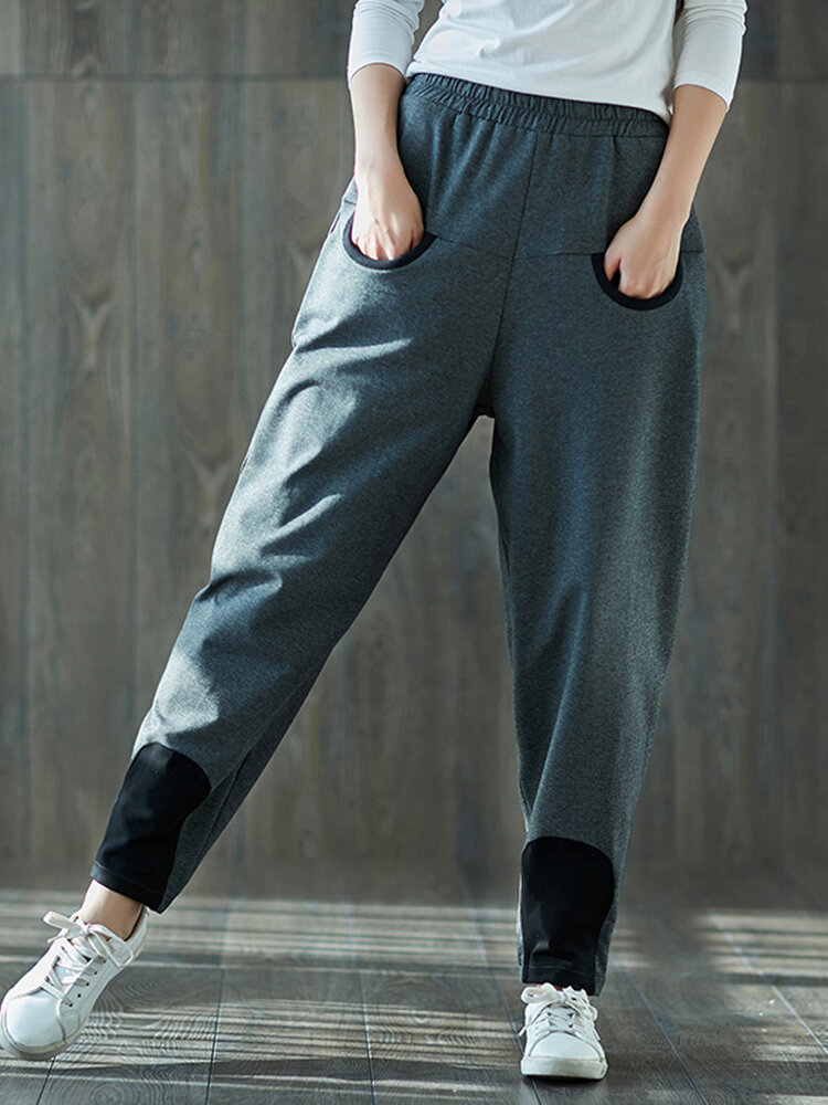 Best Casual Patchwork Loose Elastic Waist Women Harem Pants You Can Buy