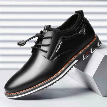 Мужская нескользящая нескользящая обувь из микрофибры Soft Эластичная кружевная повседневная обувь