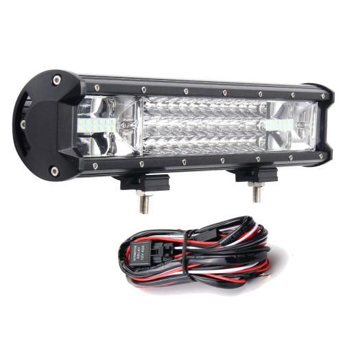 small resolution of 16inch 216w 7d led work light bars flood spot combo 10 30v with wiring harness kit for jeep off road truck cod