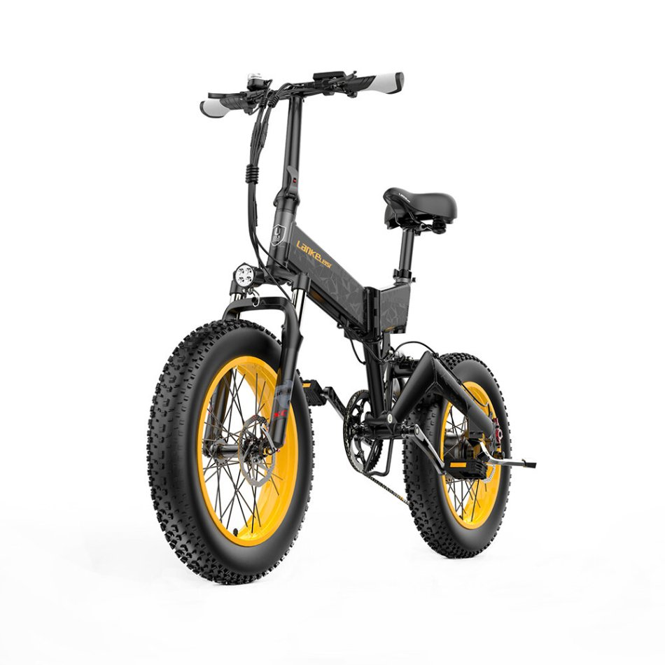 LANKELEISI X3000PLUS 12.8Ah 48V 1000W Moped Electric Bike 20 Inches Smart Folding Bike 46km/h Max Speed Max Load 200kg