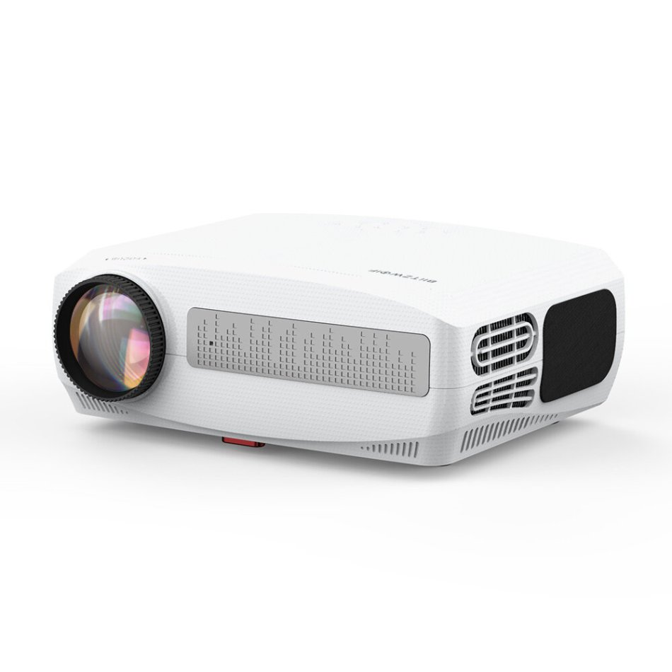 """BlitzWolf®BW-VP6 LCD Projector 6000 Lux Full HD 300"""" Native 1080P Projector ±50° Keystone 2*5W Speakers 60Hz Compatible TV Stick 2 HDMI VGA PC TV Box PS4 for Outdoor Movies Home Theater Projector"""