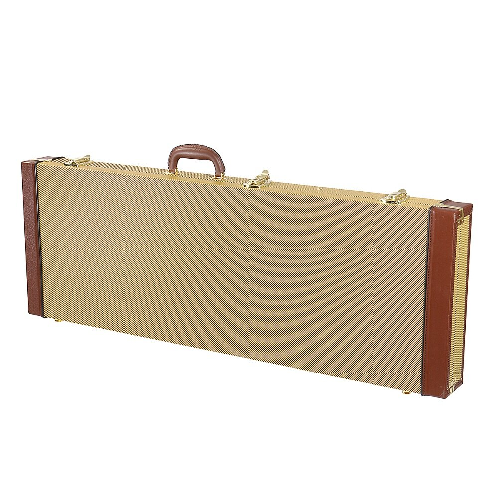 hight resolution of electric guitar hard case bag rectangular with lock for strat tele soloist guitar cod