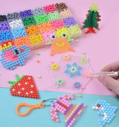 magic water sticky beads fuse beads refill compatible with aquabeads and beados art crafts toys cod [ 1200 x 1200 Pixel ]