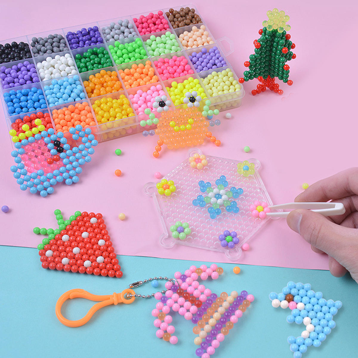 hight resolution of magic water sticky beads fuse beads refill compatible with aquabeads and beados art crafts toys cod