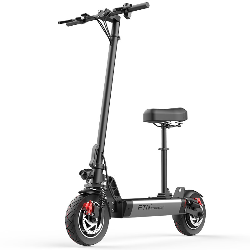 FTN S1 8AH 48V 500W 10in Folding Electric Scooter 20km/h Top Speed 30km Mileage 150kg Playload Double Brake E Scooter