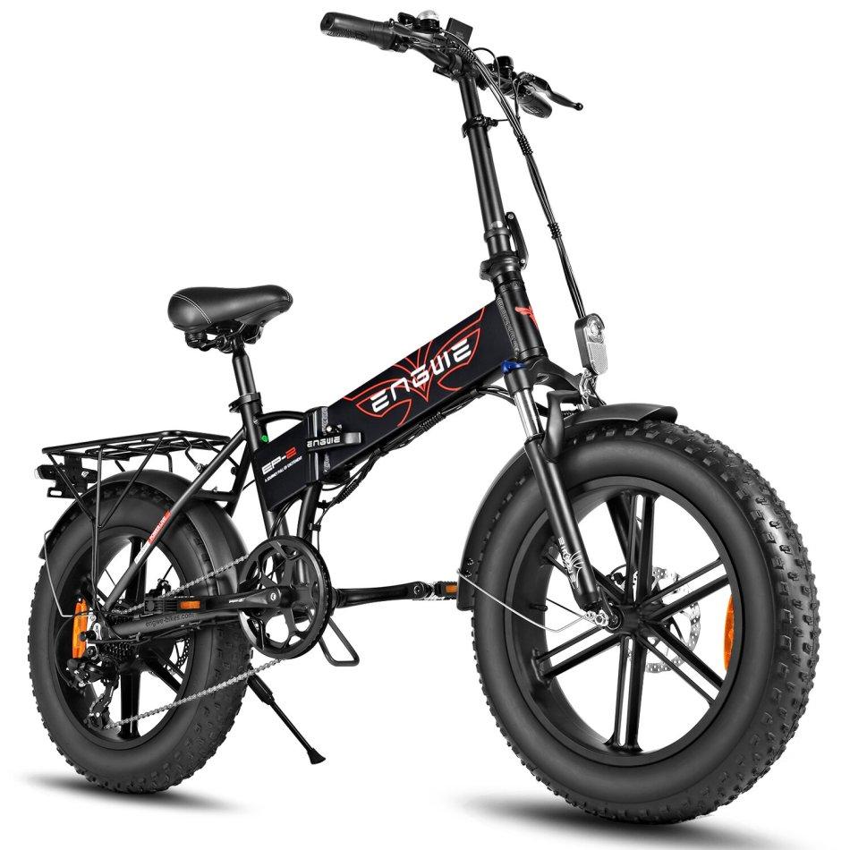 [EU DIRECT] ENGWE EP-2 48V 12.5Ah 500W Folding Electric Bike Top Speed 39km/h Range 35-50km E Bike for Snowfield Mountain Road