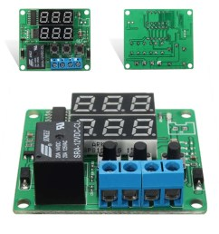 dc12v double digital led cycle timing delay time timer relay module sale banggood mobile [ 1200 x 1200 Pixel ]
