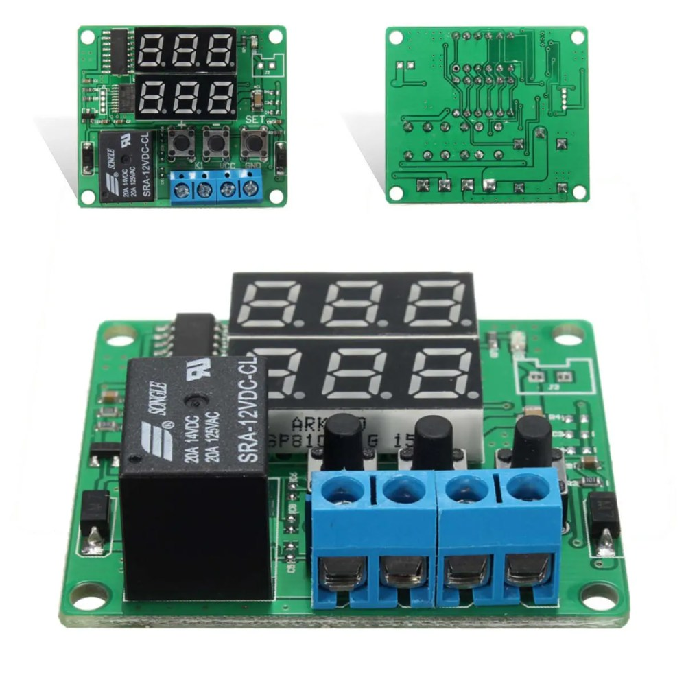 medium resolution of dc12v double digital led cycle timing delay time timer relay module sale banggood mobile