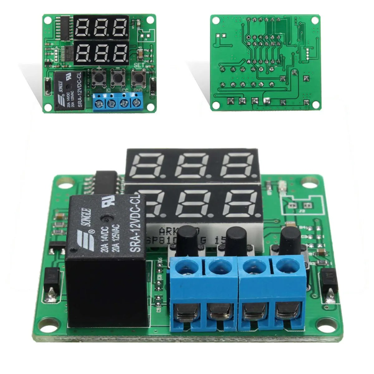 hight resolution of dc12v double digital led cycle timing delay time timer relay module sale banggood mobile