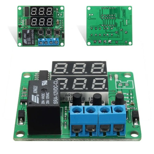 small resolution of dc12v double digital led cycle timing delay time timer relay module sale banggood mobile