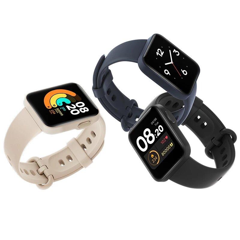 Original Xiaomi Mi Watch Lite Built-in GPS+GLONASS bluetooth 5.0 Wristband Customized Watch Face 1.4 Inch Music Control Smart Watch Global Version COD