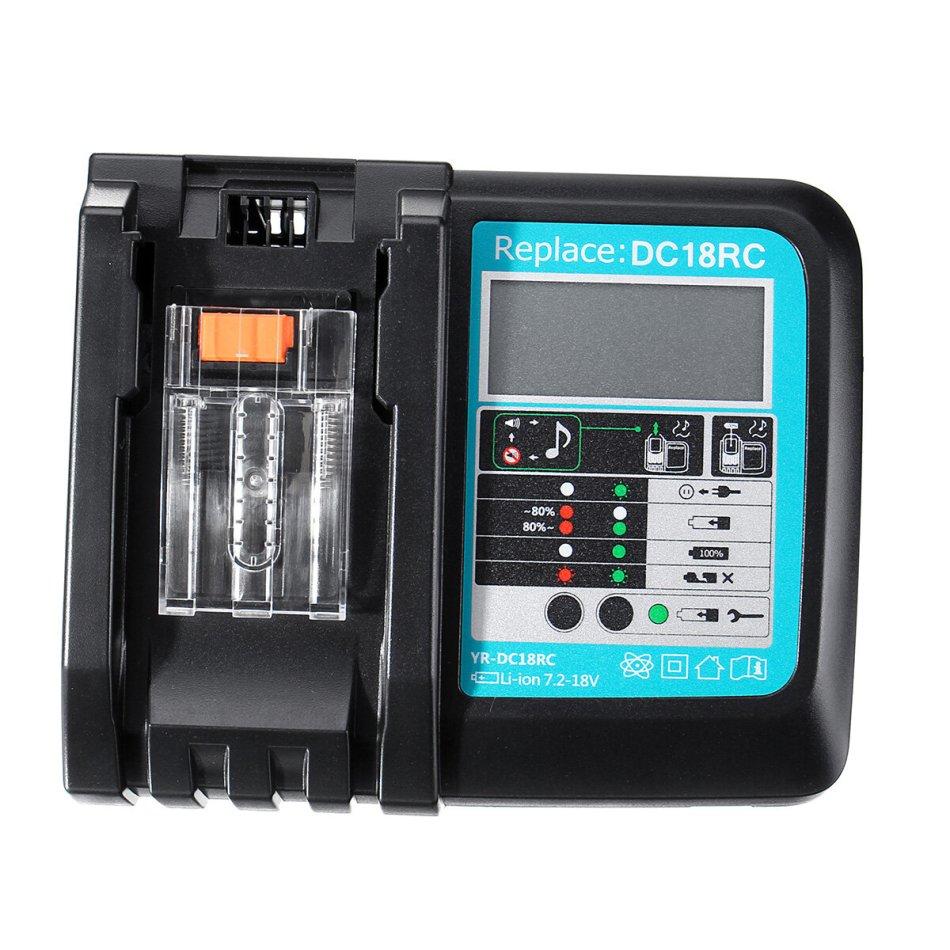 DC18RC Fast Lithium-Ion USB Battery Charger LED Display BL1830 BL1840 BL1850 For 14.4V 18V Makita Battery