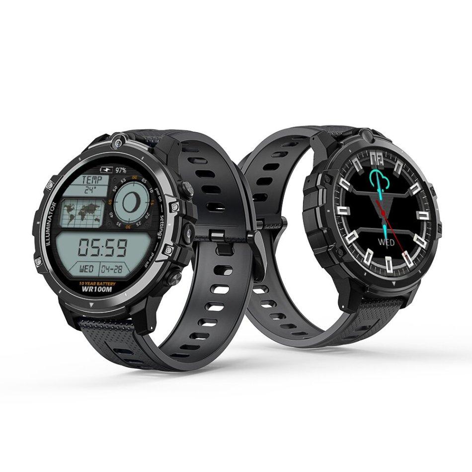 BlitzWolf® BW-BE1 1.6 inch HD Screen Ceramic Bezel Watch Phone Dual Cameras WIFI GPS/A-GPS/G-LONASS 3G+32G 4G-LTE Face Unlock Smart Watch