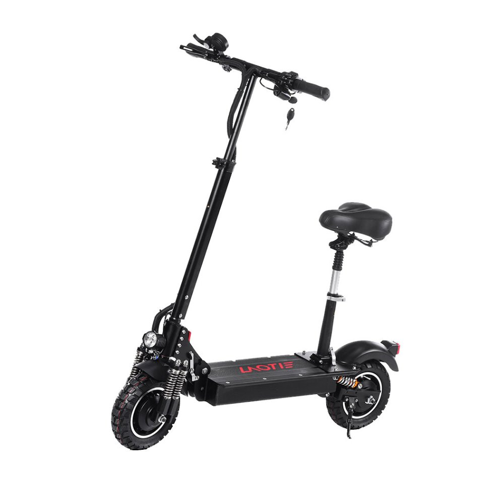LAOTIE ES10 2000W Dual Motor 23.4Ah 52V 10 Inches Folding Electric Scooter with Seat 70km/h Top Speed 80km Mileage Max Load 200kg