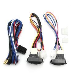 6pcs 12v universal power window switch kits with installation wiring wiring harness power windows [ 1200 x 1200 Pixel ]