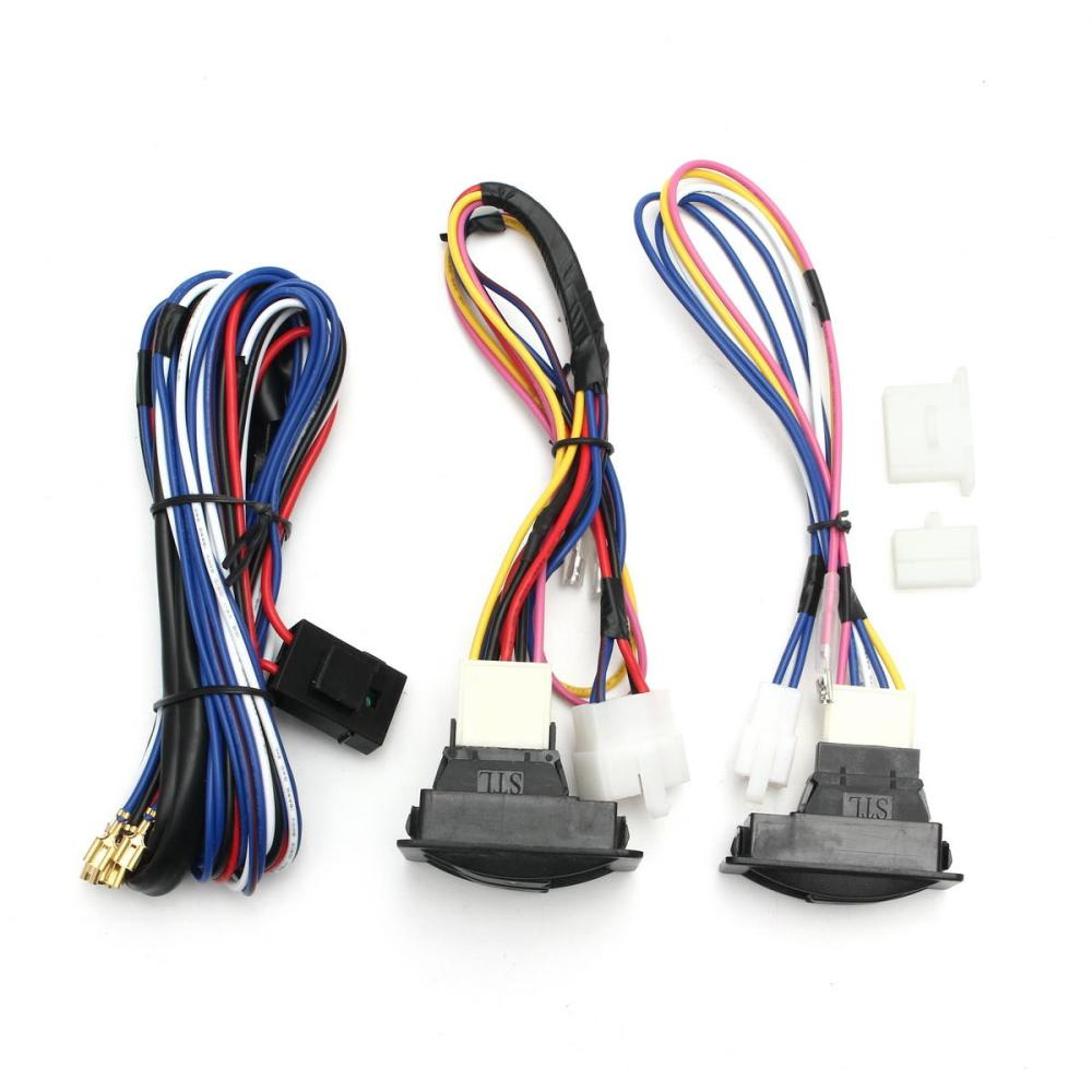 medium resolution of 6pcs 12v universal power window switch kits with installation wiring power window switch wiring harness 6pcs