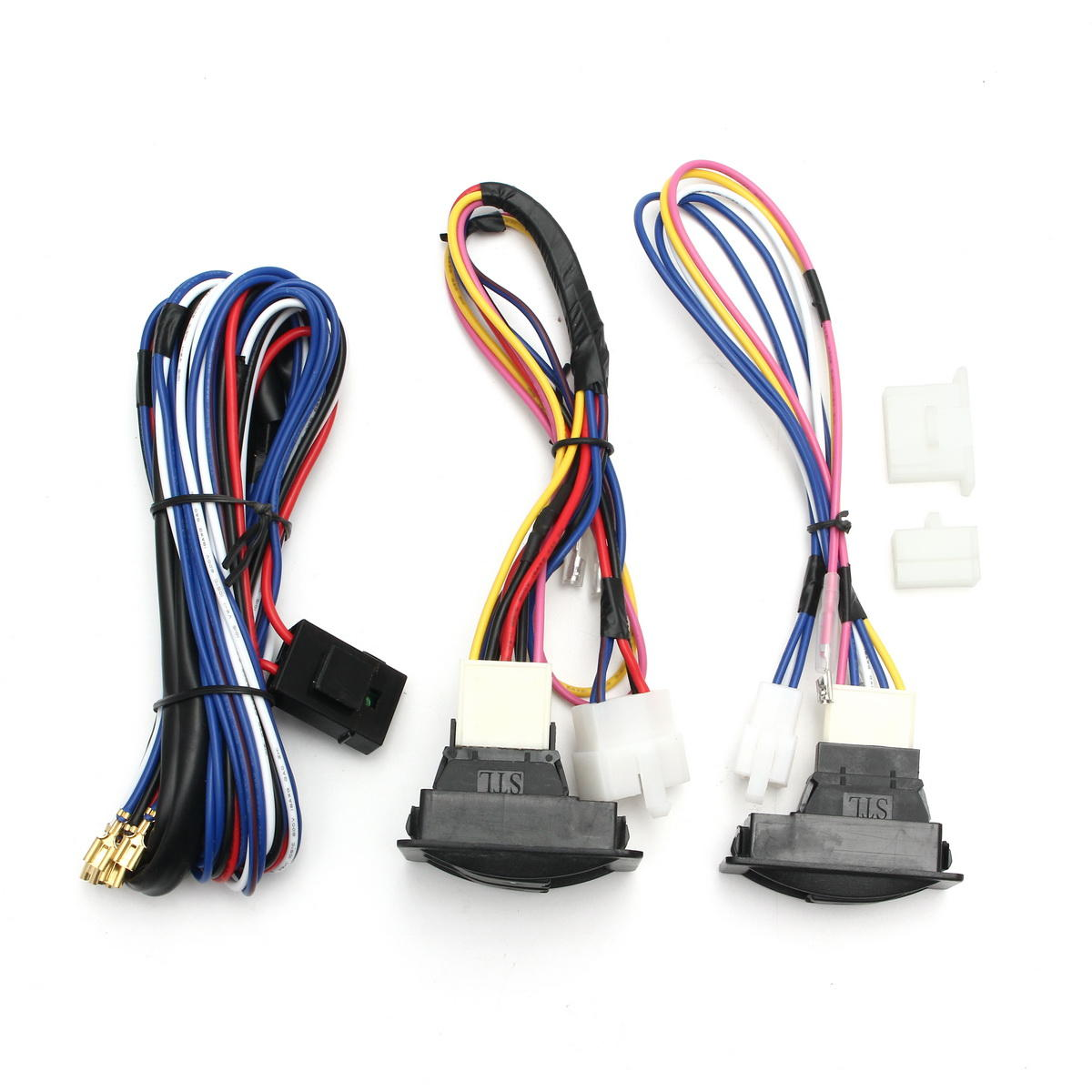hight resolution of 6pcs 12v universal power window switch kits with installation wiring wiring harness power windows