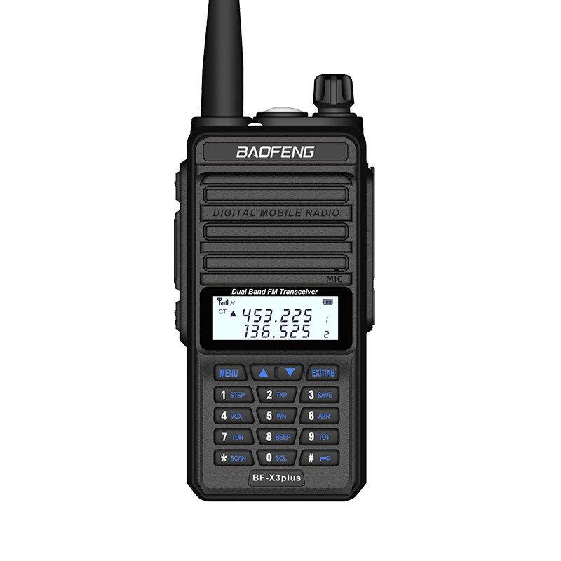 BAOFENG X3-Plus 9500mah 18W Tri-band Radio Walkie Talkie 20 KM Waterproof UHF/VHF Transceiver 220MHz Radio Transmitter Black