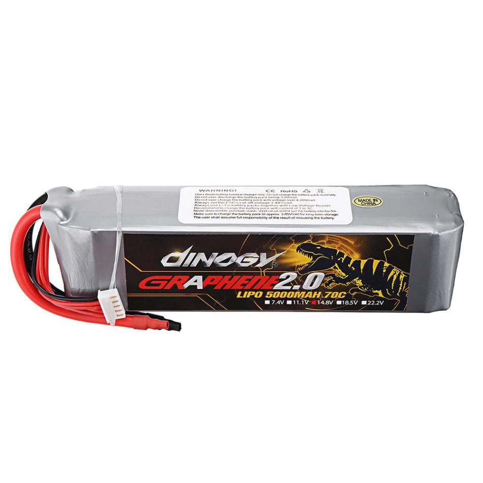 DINOGY GRAPHENE 2.0 14.8V 5000mAh 70C 4S Lipo Battery for FPV RC Quadcopter