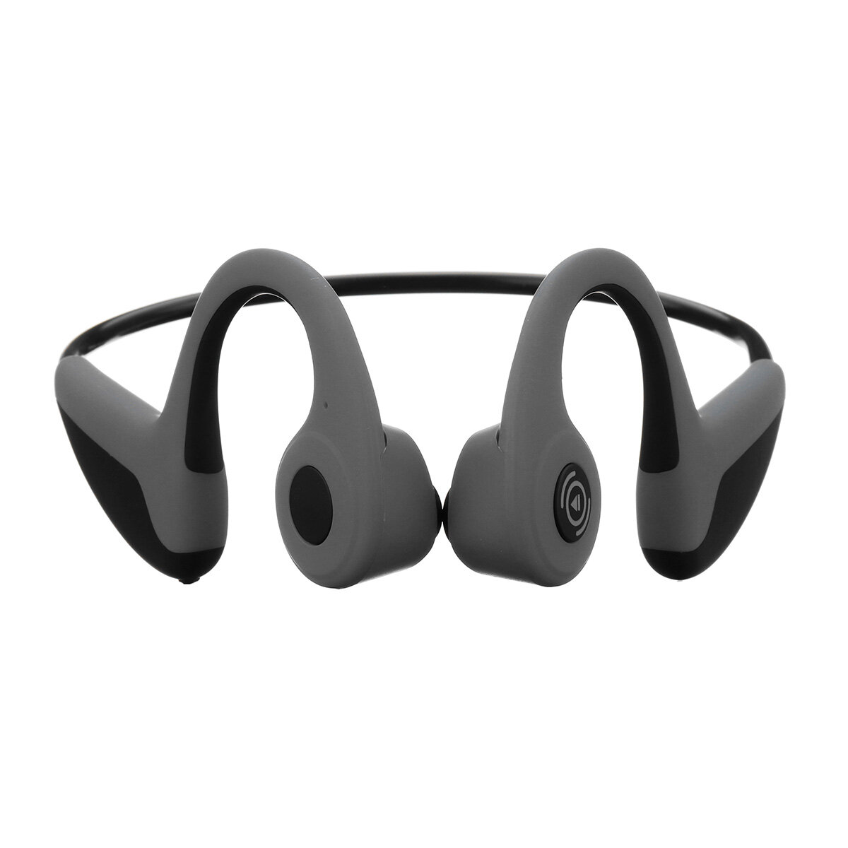 hight resolution of fmj wireless smart bone conduction bluetooth 5 0 headset waterproof sports handsfree earphone headphone black cod