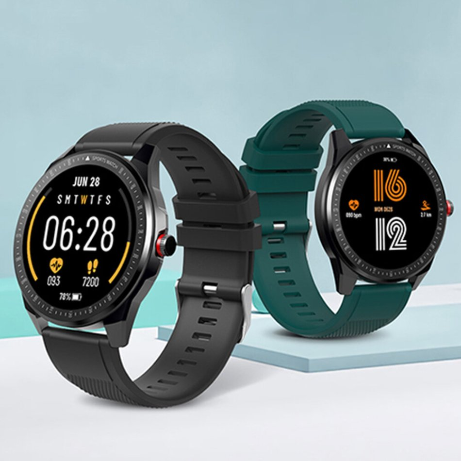 [BT 5.0]TICWRIS RS 1.3 Inch Ultra Thin 50 Days Standby Wristband 31 Sport Modes Tracker Customized Watch Faces 246 PPI IP68 Waterproof Smart Watch