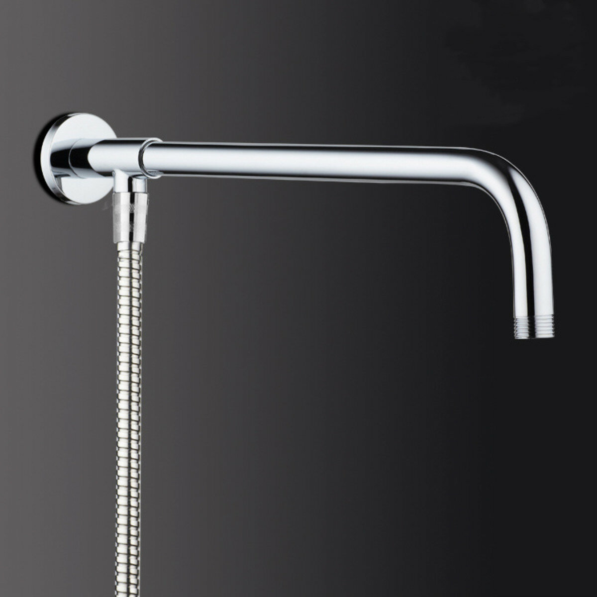 37cm 48cm Rain Shower Head Wall Arm Stainless Steel Extension Water Pipe With Base Mount