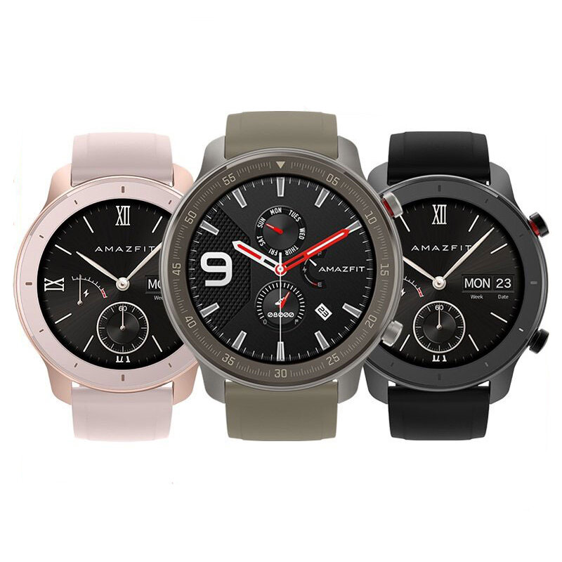 [bluetooth 5.0]Amazfit GTR 42MM AMOLED Smart Watch GPS+GLONASS 12 Sports Mode 5ATM Music Control Wristband Global Version