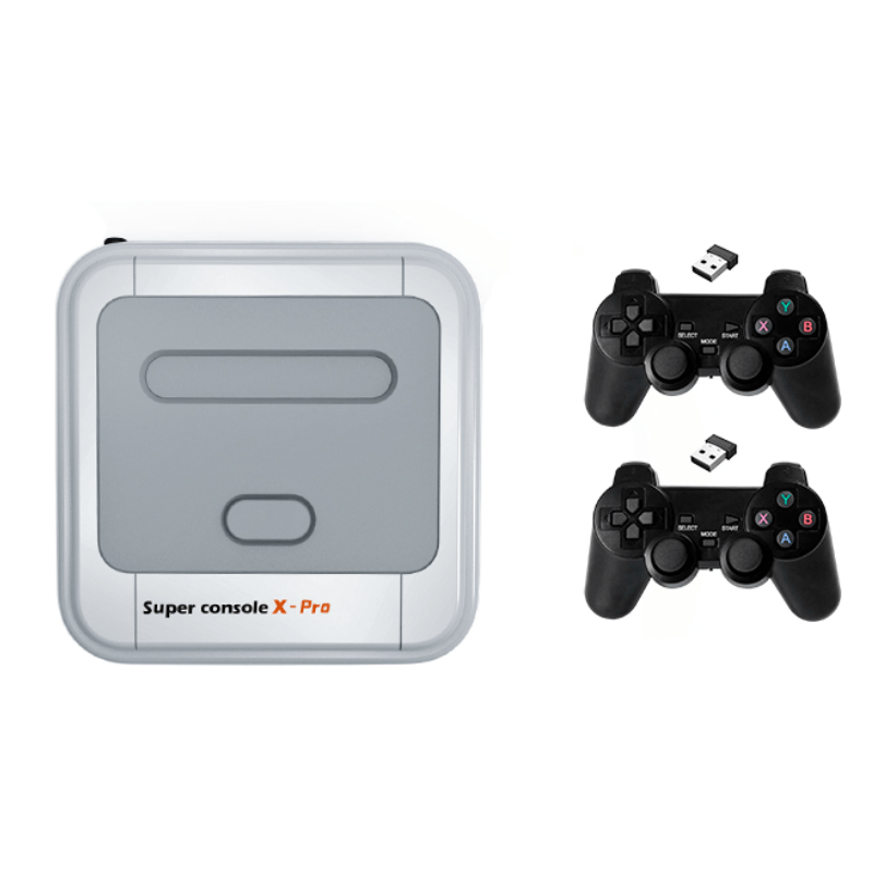Super Console X Pro Amlogic S905X Wireless TV Game Console 64GB 128GB 50000+ Games Player TV Box 4K HD for PSP PS1 N64 NES Atatri GB Support APP Download