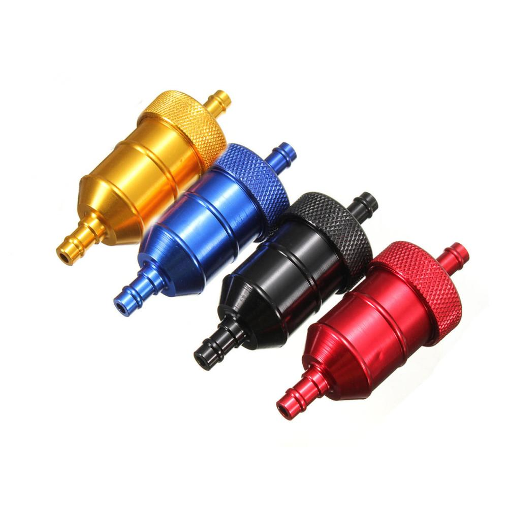 medium resolution of aluminum reusable universal motorcycle fuel filter petrol gas gasoline liquid blue cod