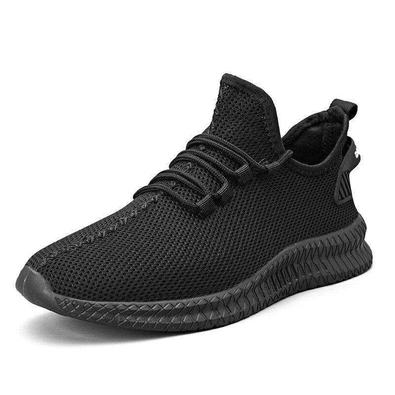 TENGOO Men's Running Shoes Antibacterial Ultralight Breathable Sports Sneakers Walking Shockproof Casual Shoes