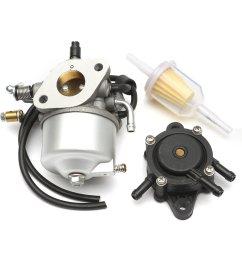 carburetor with fuel pump filter for ezgo 295cc txt golf cart 4 mix carburetor with fuel [ 1200 x 1200 Pixel ]