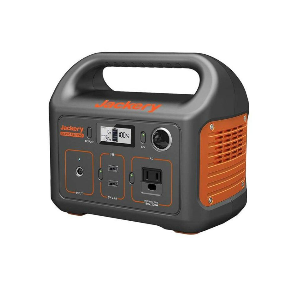 Jackery Portable Power Station333Wh Backup 220V/300W PureSine Wave AC Solar Generator for RC Drones Outdoors Camping Travel Emergency