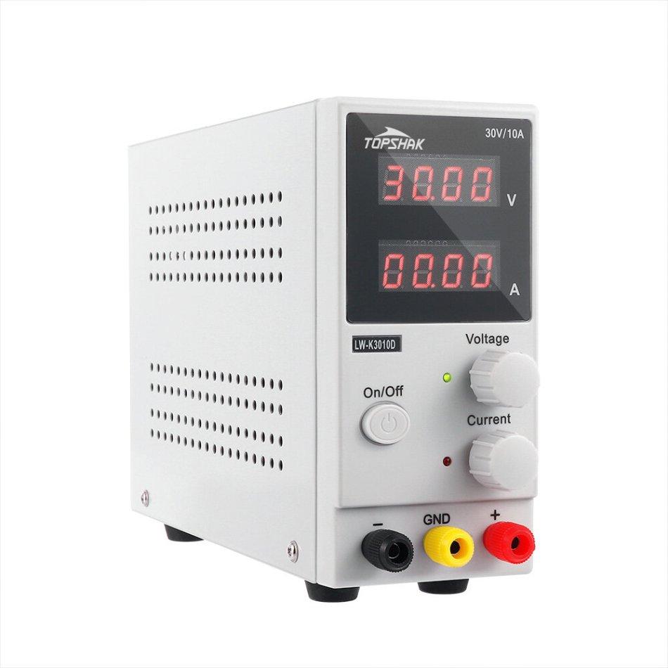 Minleaf LONG WEI K3010D 4 Digits LED Display 110V/220V 30V 10A Adjustable DC Power Supply Switching Regulated Power Supply