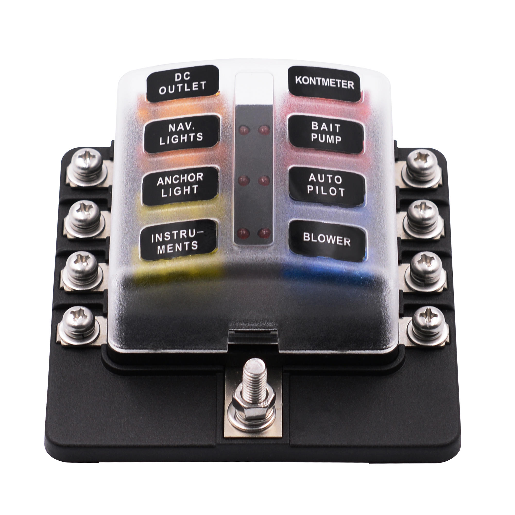 hight resolution of imars 8 way fuse box 12v 32v circuit standard blade block holder kit car caravan cod