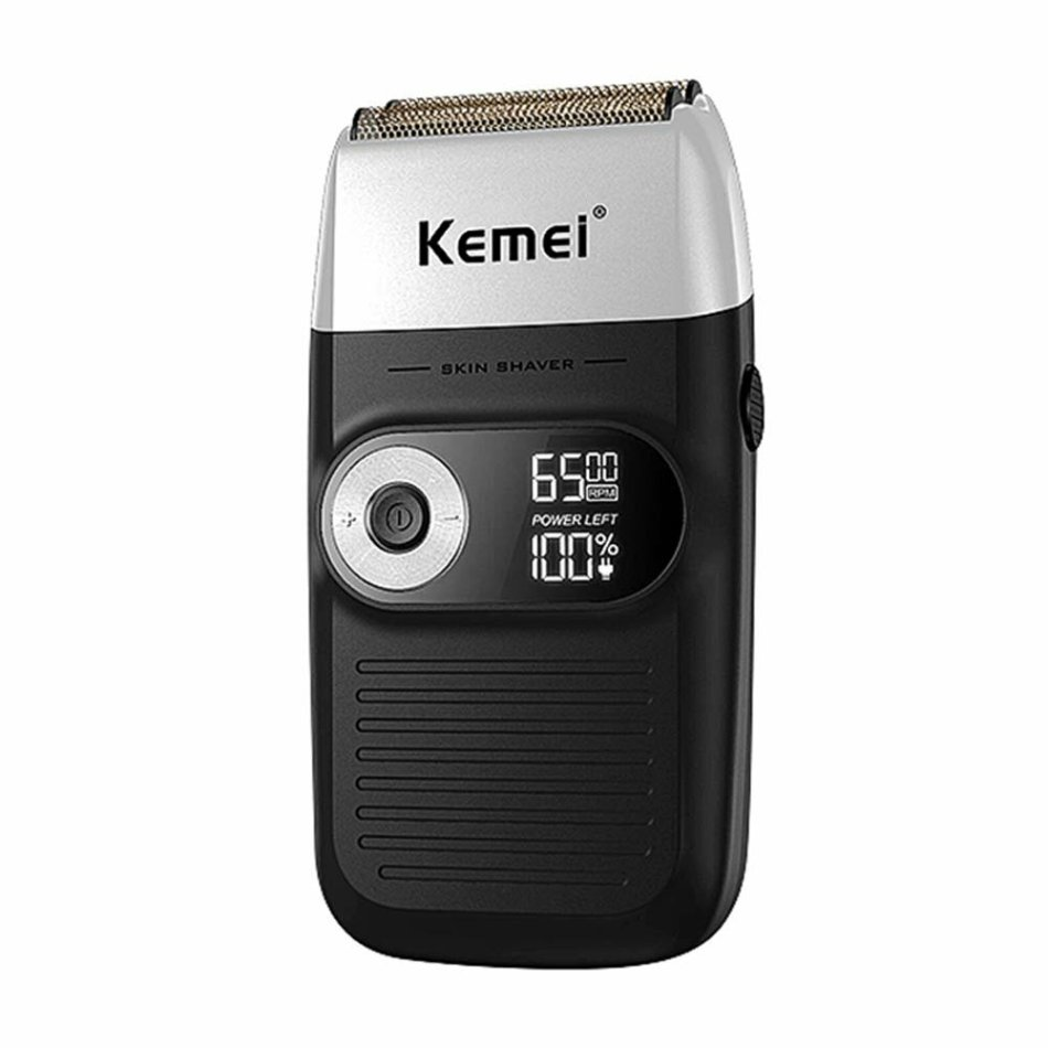 KEMEI Dual Purpose Electric Shaver Rechargeable Beard Trimmer LCD Displayed Military Hair Clipper Reciprocating Beard Razor for Men