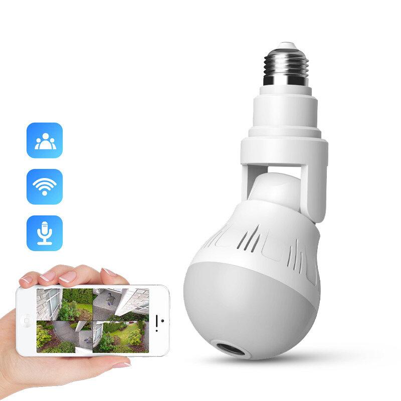 XIAOVV D5 360° Panorama 1080P WIFI Luminous IP Camera H.265 Two-way Audio V380 APP Control Lighting Bulb Lamp Wireless Security Surveillance Indoor IP Camera