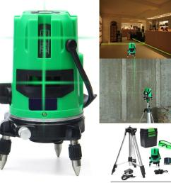green 5 line 6 points laser level 360 rotary laser line self leveling with tripod cod [ 1200 x 1200 Pixel ]