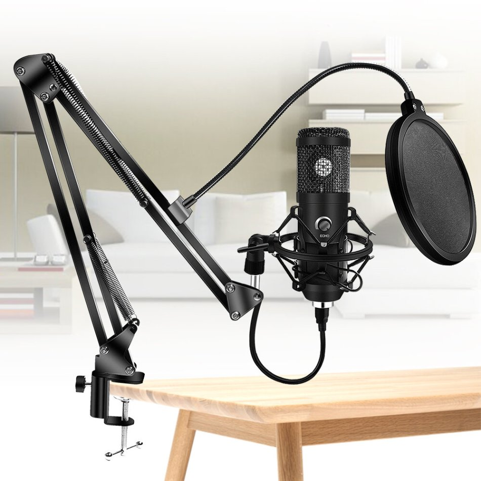Bakeey Upgraded Usb E20 Condenser Computer Microphone With Ring Light Studio Kit With Arm Stand For Gaming Youtube Video Record