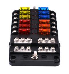 1 in 12 out way car fuse box power plug type fuse box seat with led indicator cod [ 1000 x 1000 Pixel ]