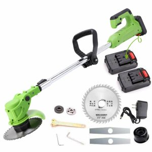 24V 800W Electric Cordless String Trimmer Weed Eater Garden Grass Cutting +2 Battery