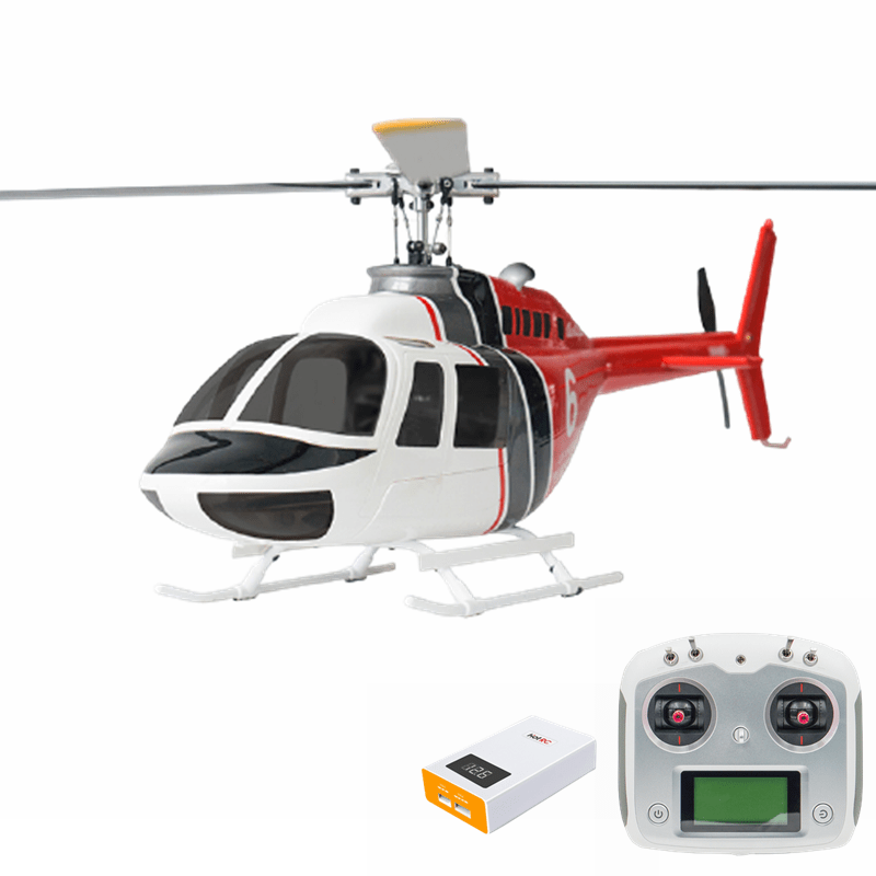 FLY WING Bell 206 Class 450 6CH Brushless Motor GPS Fixed Point Altitude Hold Scale RC Helicopter RTF