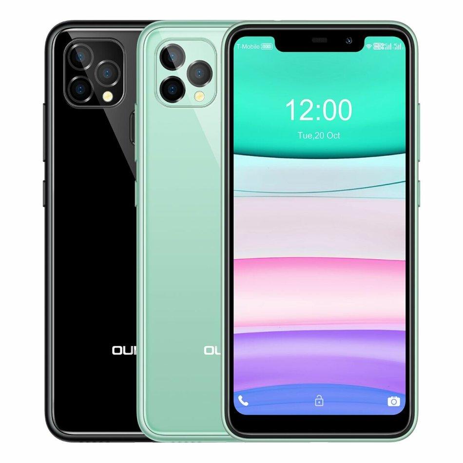 OUKITEL C22 Global Version 5.86 inch HD+ U-notch Display Android 10 4GB 128GB MT6761V 4000mAh 13MP Trople Rear Camera 4G Smartphone