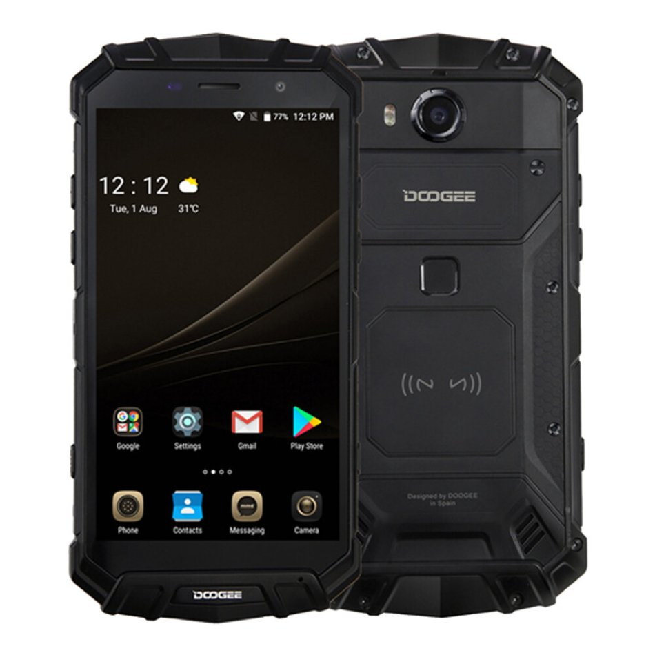 DOOGEE S60 Lite Global Version 5.2 inch FHD IP68 Waterproof NFC Wireless Charging 5580mAh 4GB 32GB MT6750T 4G Smartphone