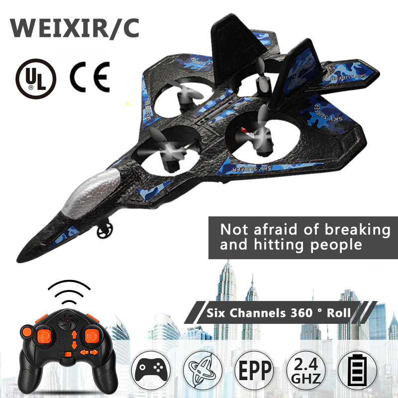THUNDER JET X LC222 250mm Wingspan RC Airplane 2.4Ghz 2CH EPP Remote Control Fixed Wing Drone Aircraft RTF