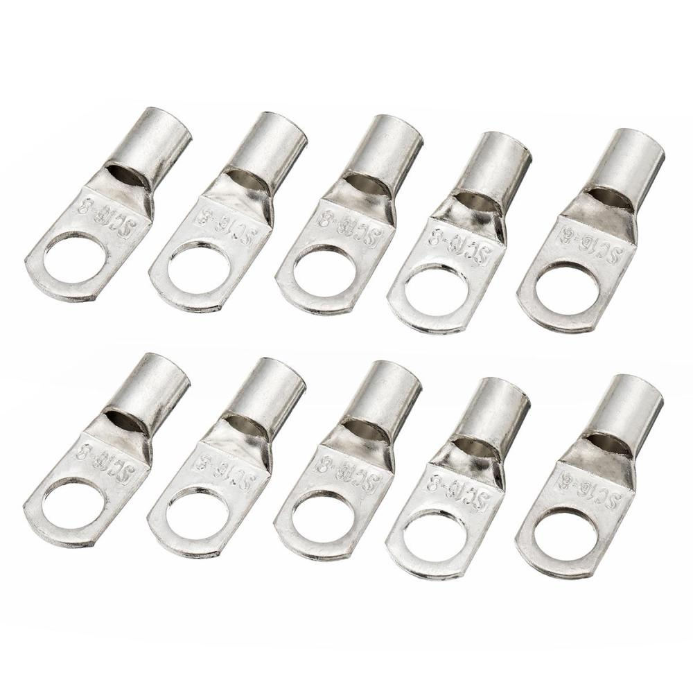 medium resolution of 10 pcs 16mm x8mm copper cable lugs electrical terminal block wire connectors cod