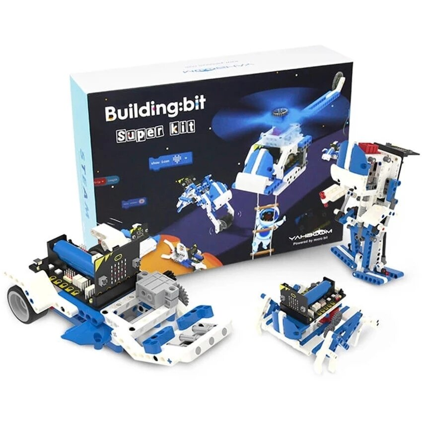 Yahboom Intelligent Microbit Programmable Building Block Robot Kit Python Graphic Assembly Educational RC Robot