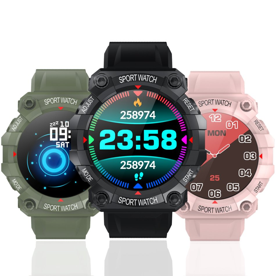 Bakeey FD68 Heart Rate Monitor Custom Dial Music Control Weather Display Fashion Sport Style Design Smart Watch