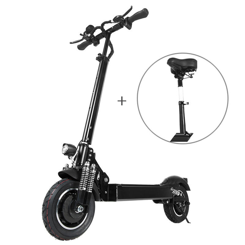Janobike T10 2000W Dual Motor 23.4Ah 10 Inches Folding Electric Scooter with Seat 70km/h Top Speed 80km Mileage Range Max Load 200kg